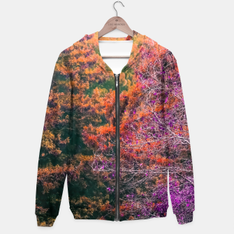 Miniature de image de autumn tree in the forest in purple and brown Hoodie, Live Heroes