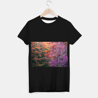 Imagen en miniatura de autumn tree in the forest in purple and brown T-shirt regular, Live Heroes