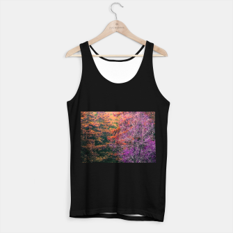 Miniaturka autumn tree in the forest in purple and brown Tank Top regular, Live Heroes