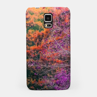 Miniatur autumn tree in the forest in purple and brown Samsung Case, Live Heroes