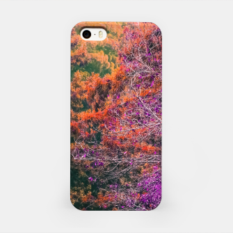 Miniaturka autumn tree in the forest in purple and brown iPhone Case, Live Heroes