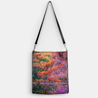 Miniaturka autumn tree in the forest in purple and brown Handbag, Live Heroes