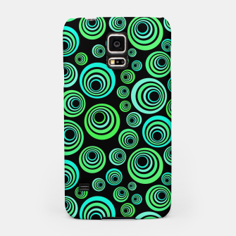 Miniatur Neon green and blue Samsung Case, Live Heroes