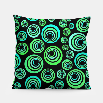 Miniatur Neon green and blue Pillow, Live Heroes