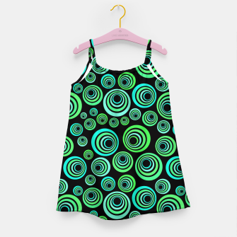 Miniatur Neon green and blue Girl's Dress, Live Heroes