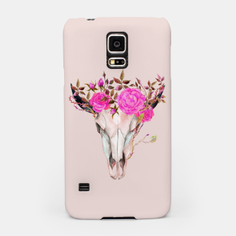 Thumbnail image of Flowery skull Samsung Case, Live Heroes