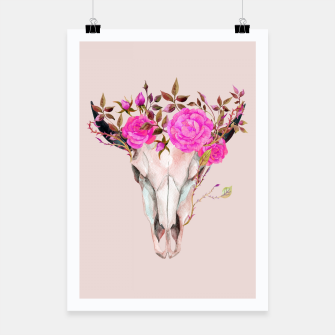 Thumbnail image of Flowery skull Poster, Live Heroes