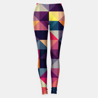 Miniatur Colorful and geometric pattern Leggings, Live Heroes