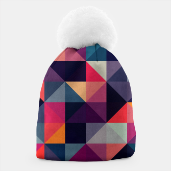 Miniatur Colorful and geometric pattern Beanie, Live Heroes