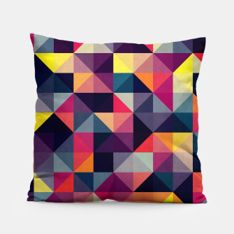 Miniatur Colorful and geometric pattern Pillow, Live Heroes