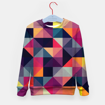 Miniatur Colorful and geometric pattern Kid's Sweater, Live Heroes