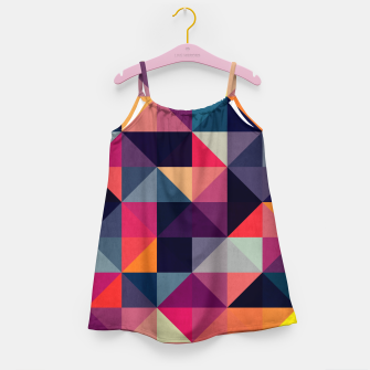 Miniaturka Colorful and geometric pattern Girl's Dress, Live Heroes