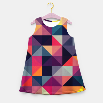 Miniatur Colorful and geometric pattern Girl's Summer Dress, Live Heroes
