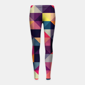 Miniaturka Colorful and geometric pattern Girl's Leggings, Live Heroes
