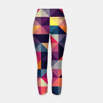 Miniatur Colorful and geometric pattern Yoga Pants, Live Heroes
