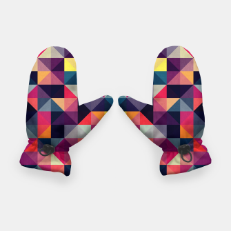 Miniatur Colorful and geometric pattern Gloves, Live Heroes