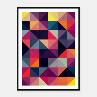 Miniatur Colorful and geometric pattern Framed poster, Live Heroes