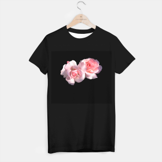 Imagen en miniatura de Beautiful pink Roses  T-shirt regular, Live Heroes
