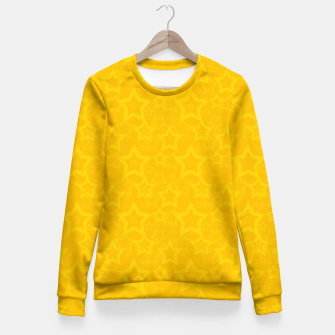 Miniatur Yellow print with stars Fitted Waist Sweater, Live Heroes