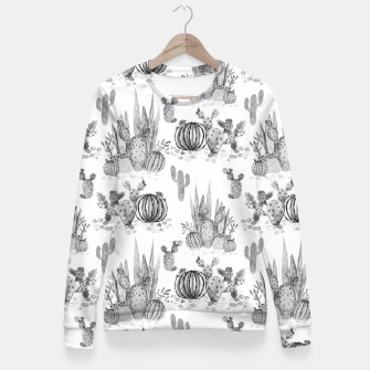 Miniatur Watercolor cactuses print Fitted Waist Sweater, Live Heroes