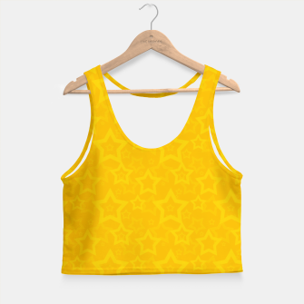 Miniatur Yellow print with stars Crop Top, Live Heroes