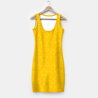 Miniatur Yellow print with stars Simple Dress, Live Heroes