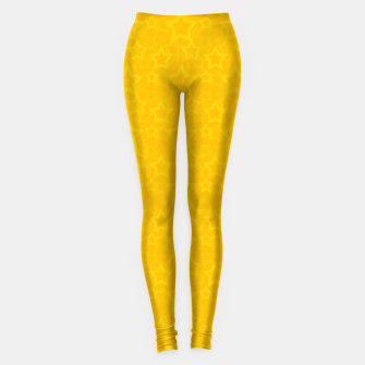 Miniatur Yellow print with stars Leggings, Live Heroes