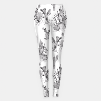 Miniatur Watercolor cactuses print Leggings, Live Heroes