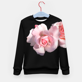 Miniatur Beautiful pink Roses  Kid's Sweater, Live Heroes