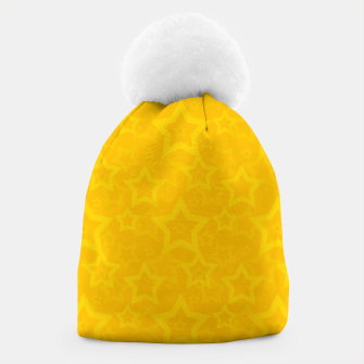 Miniatur Yellow print with stars Beanie, Live Heroes
