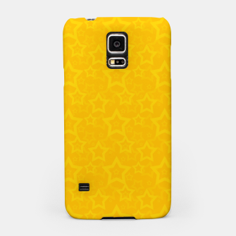 Miniatur Yellow print with stars Samsung Case, Live Heroes