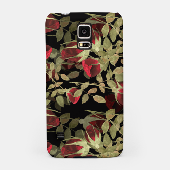 Miniatur Seamless watercolor roses pattern on black Samsung Case, Live Heroes