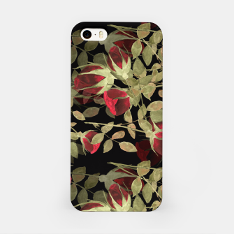 Imagen en miniatura de Seamless watercolor roses pattern on black iPhone Case, Live Heroes