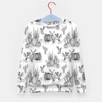 Miniatur Watercolor cactuses print Kid's Sweater, Live Heroes
