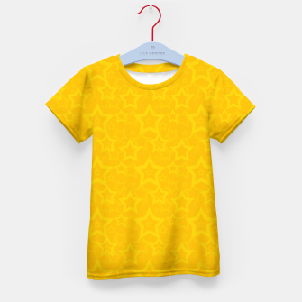 Miniatur Yellow print with stars Kid's T-shirt, Live Heroes