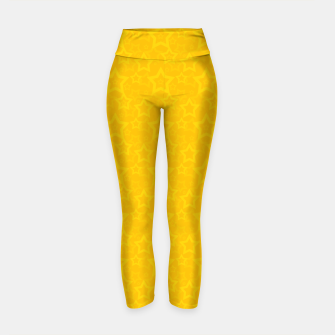 Miniatur Yellow print with stars Yoga Pants, Live Heroes
