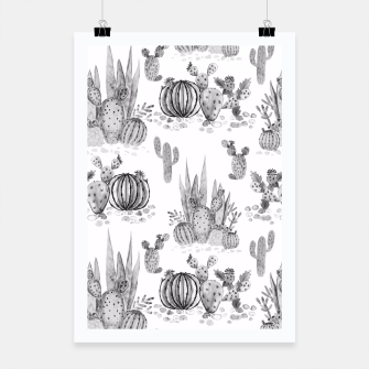 Thumbnail image of Watercolor cactuses print Poster, Live Heroes