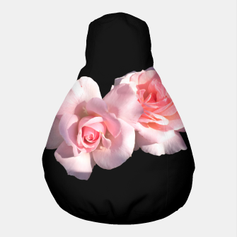 Miniatur Beautiful pink Roses  Pouf, Live Heroes