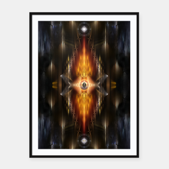 Miniatur The Temple Of Golden Fire KM Framed poster, Live Heroes