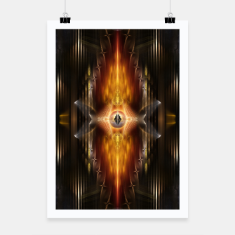 Thumbnail image of The Temple Of Golden Fire KM Poster, Live Heroes