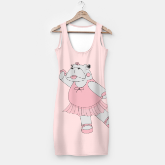Miniatur Ballerina Hippo - Pink Simple Dress, Live Heroes