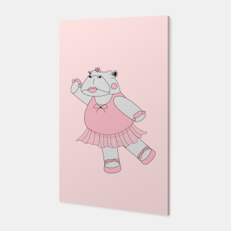 Miniatur Ballerina Hippo - Pink Canvas, Live Heroes