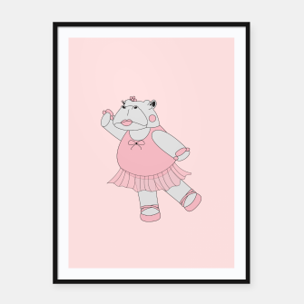 Miniatur Ballerina Hippo - Pink Framed poster, Live Heroes