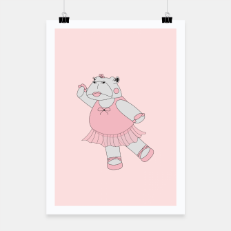 Thumbnail image of Ballerina Hippo - Pink Poster, Live Heroes
