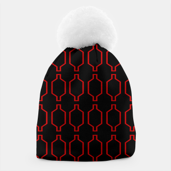 Miniatur Designers Beanie : MOROCCO RED BLACK, Live Heroes
