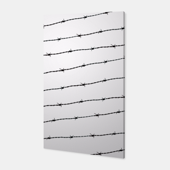 Miniatur Cool gray white and black barbed wire pattern Canvas, Live Heroes