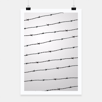 Thumbnail image of Cool gray white and black barbed wire pattern Poster, Live Heroes