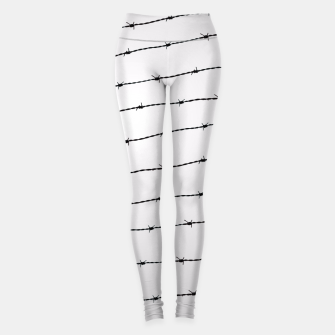 Thumbnail image of Cool gray white and black barbed wire pattern Leggings, Live Heroes
