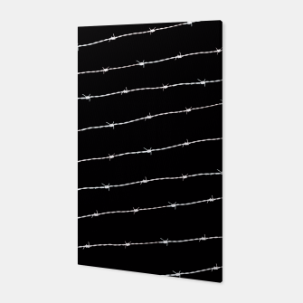 Miniatur Cool black and white barbed wire pattern Canvas, Live Heroes
