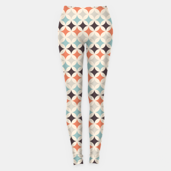 Miniatur Colorful Retro Pattern 4 Leggings, Live Heroes